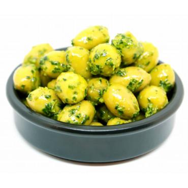 Olives vertes cassées au...
